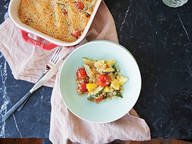Gratin Provençal mit Tomate und Sommerkürbis