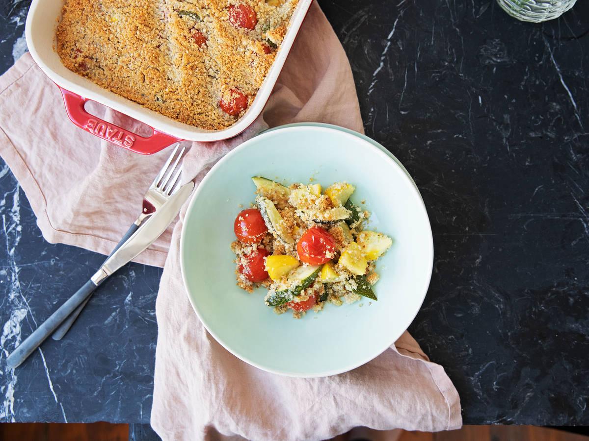 普罗旺斯式焗番茄和夏南瓜