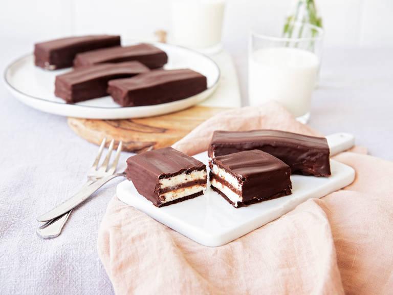 DIY icebox chocolate bars