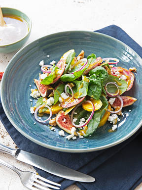 Mixed beet salad with honey mustard dressing