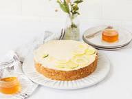 No-bake honey and lemon tart