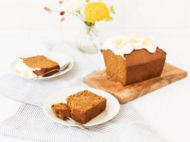 Spiced honey cake with pear and ginger
