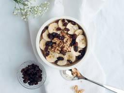 Banana bread porridge bowl