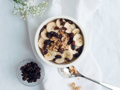 Banana bread porridge bowl