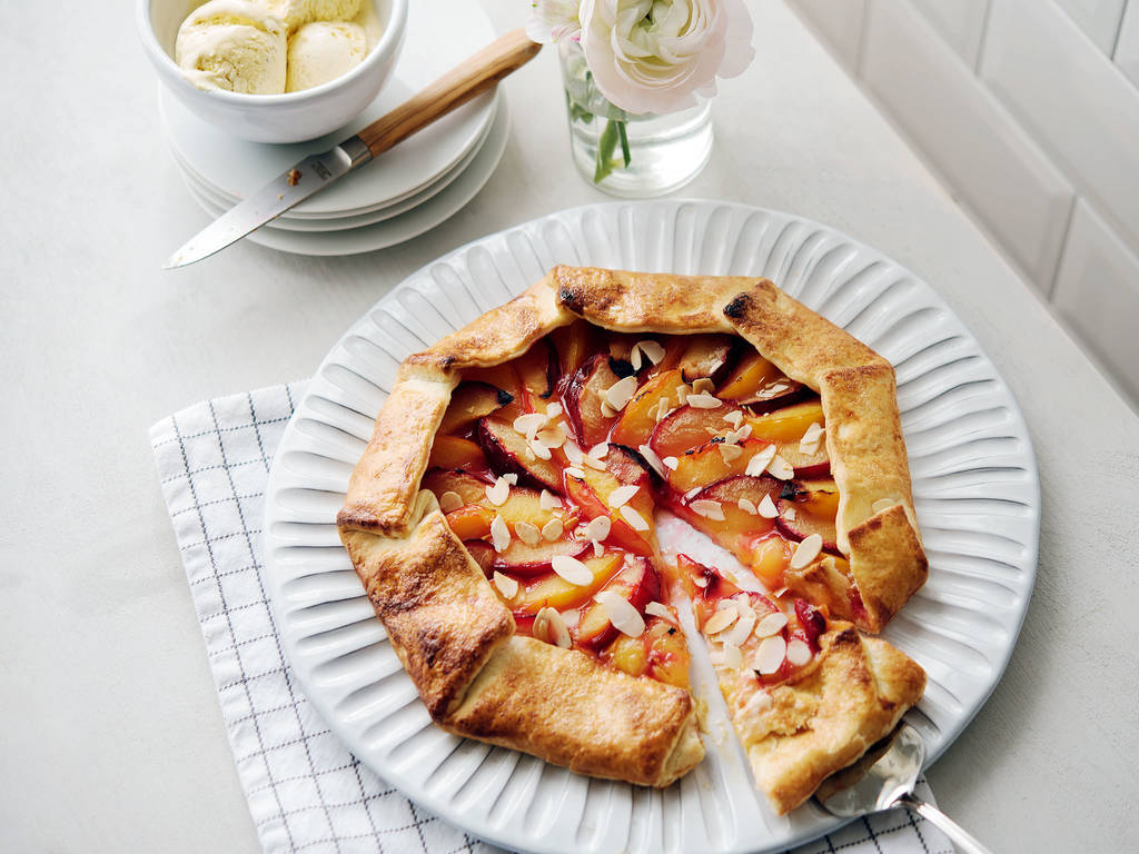 Easy stone fruit galette