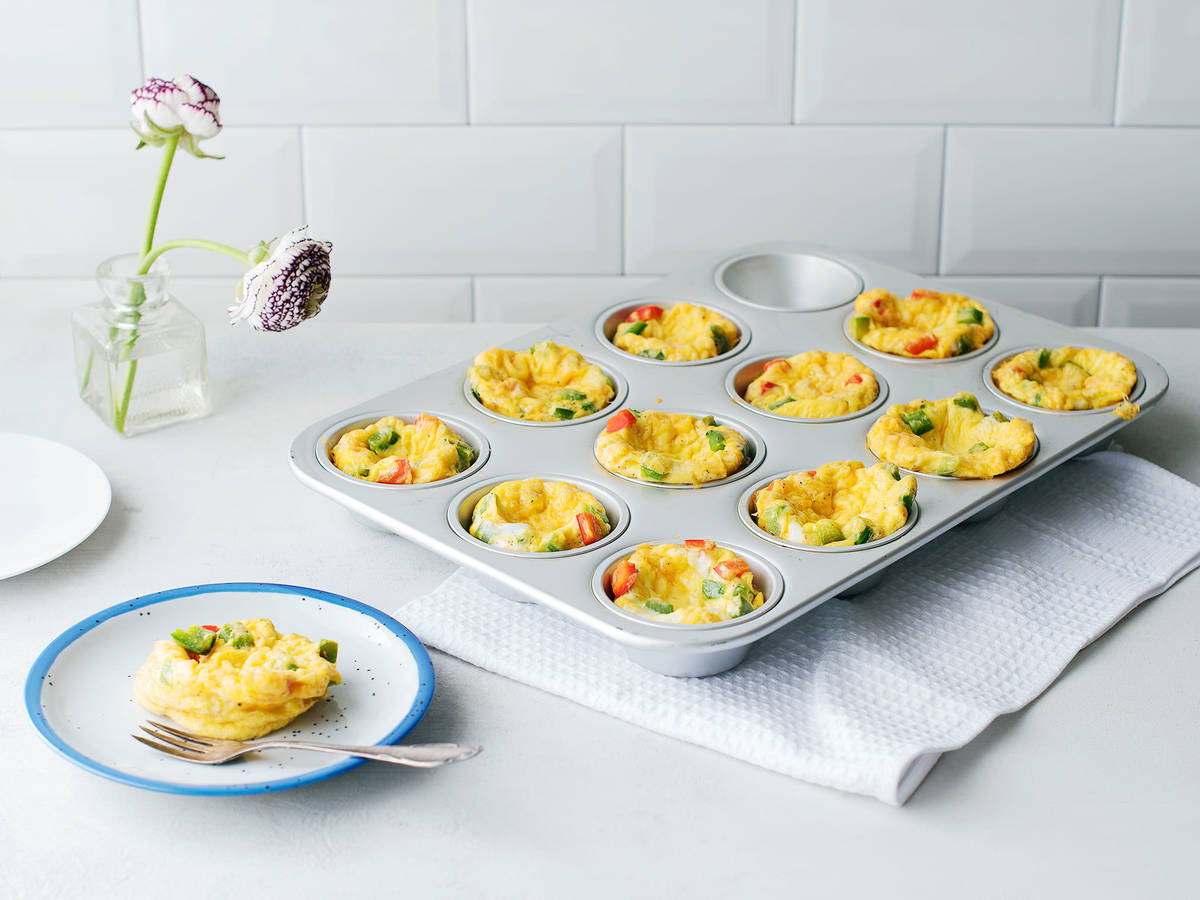 Muffin tin egg cups