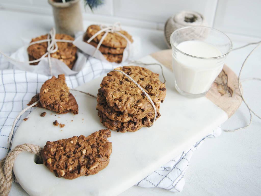 Glutenfreie Erdnussbutter-Schoko Kekse