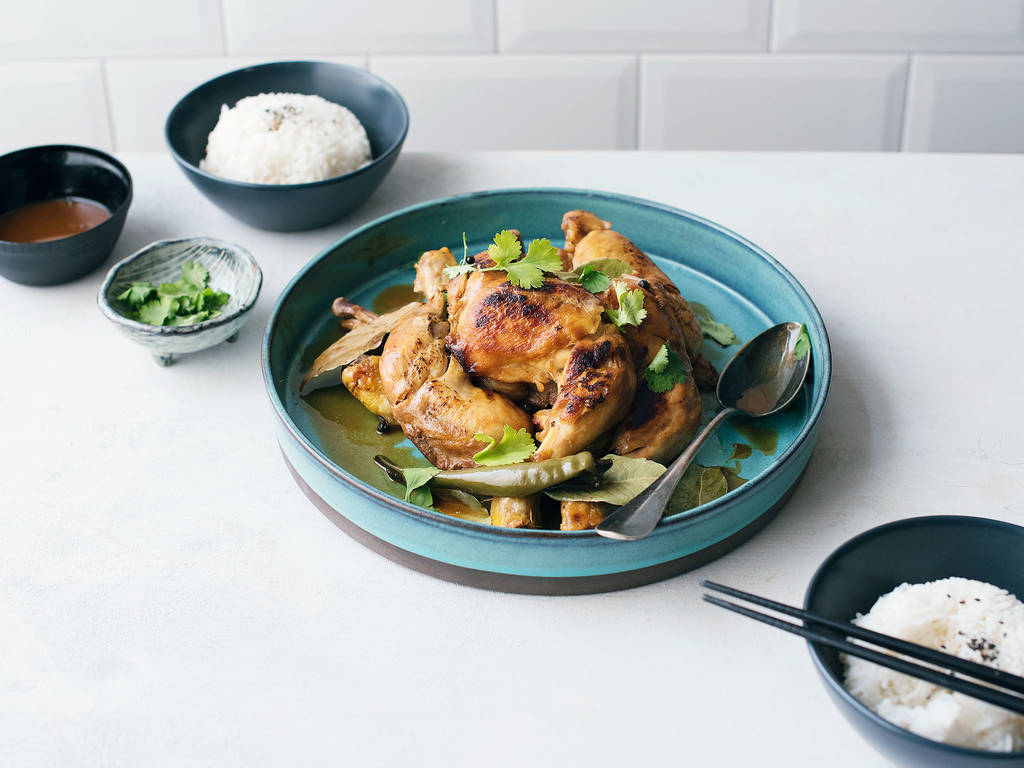 Slow-cooker Filipino chicken adobo