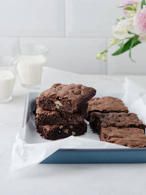 Easy double chocolate chip brownie