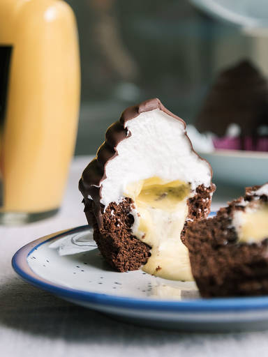 Eierlikör-Cupcakes mit Marshmallow-Frosting