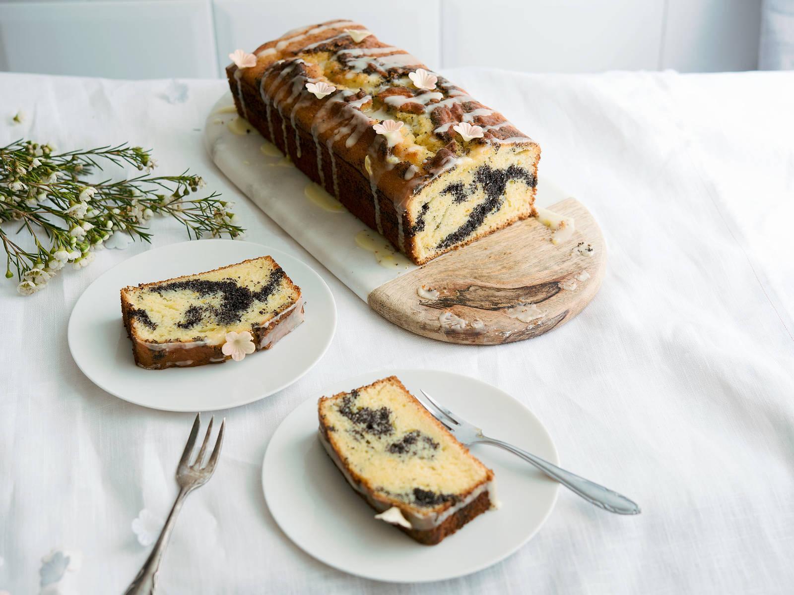 Poppy seed marble cake