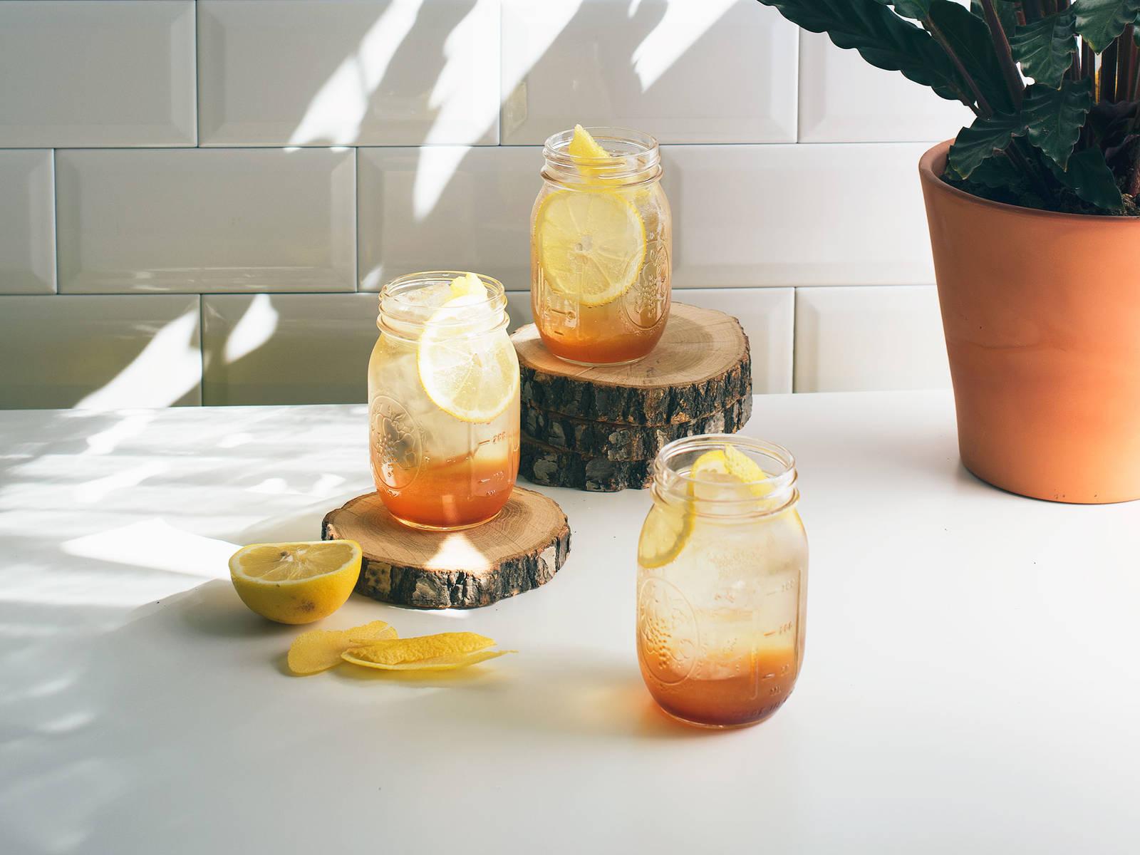 气泡柠檬冰茶