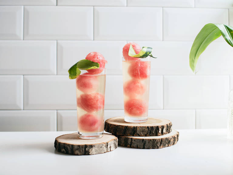 Watermelon-ginger spritzer