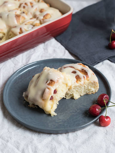 Breakfast cherry rolls