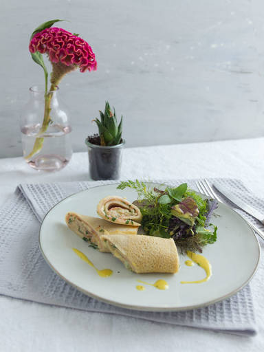 Buchweizencrêpes mit Schinken und Käse