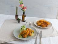 Fischstäbchen mit Kartoffelpüree und Remoulade