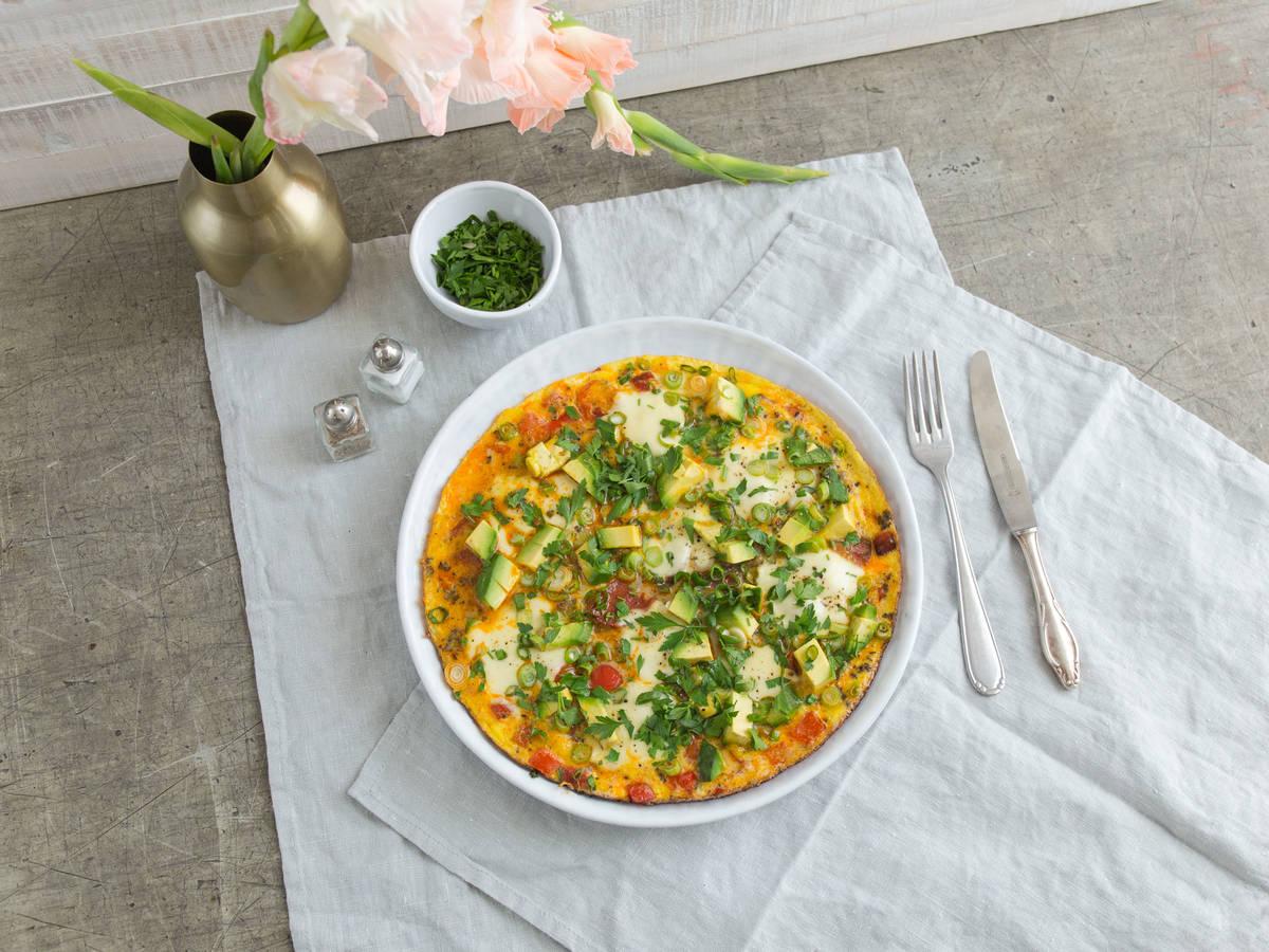 Omelett mit Chorizo und Mozzarella
