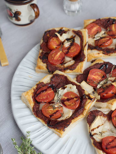 Tomato and goat cheese tartlets