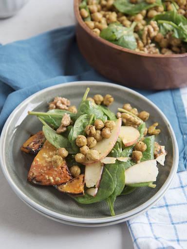 Herbstsalat mit Senf-Dressing