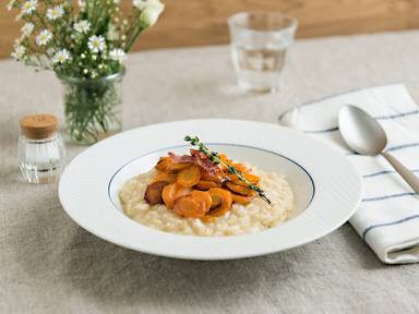 Honeyed carrot risotto