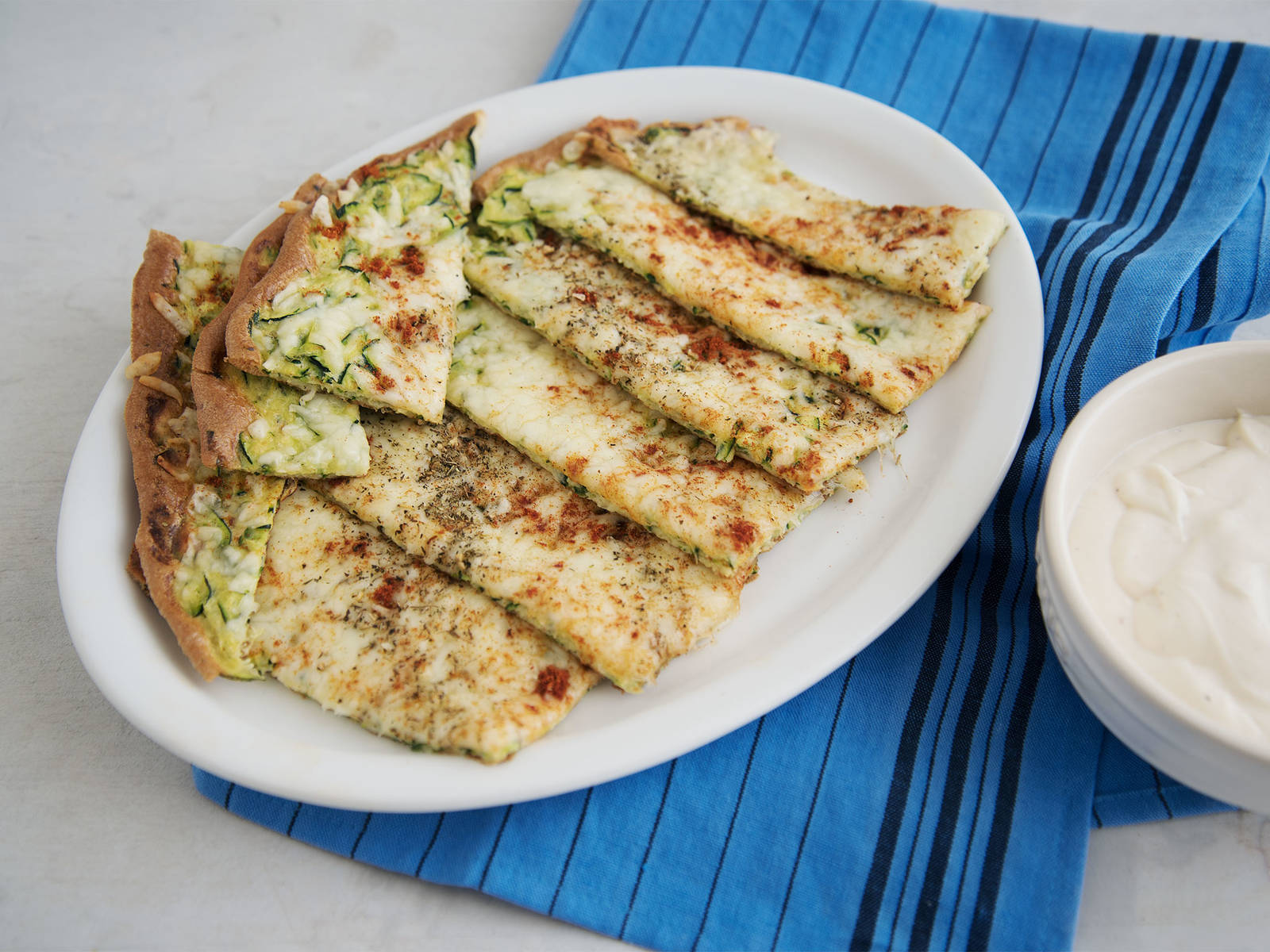 Cheesy zucchini sticks