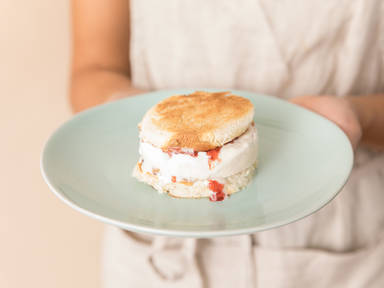 3-ingredient brioche ice cream sandwich