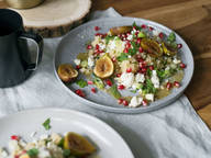Middle-Eastern couscous salad with figs