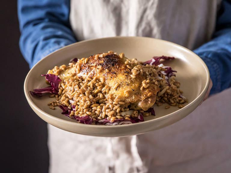 5-ingredient braised chicken with spelt