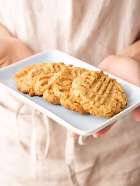 Erdnussbutterkekse mit 3 Zutaten