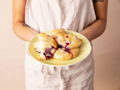 3-ingredient blueberry hand pies