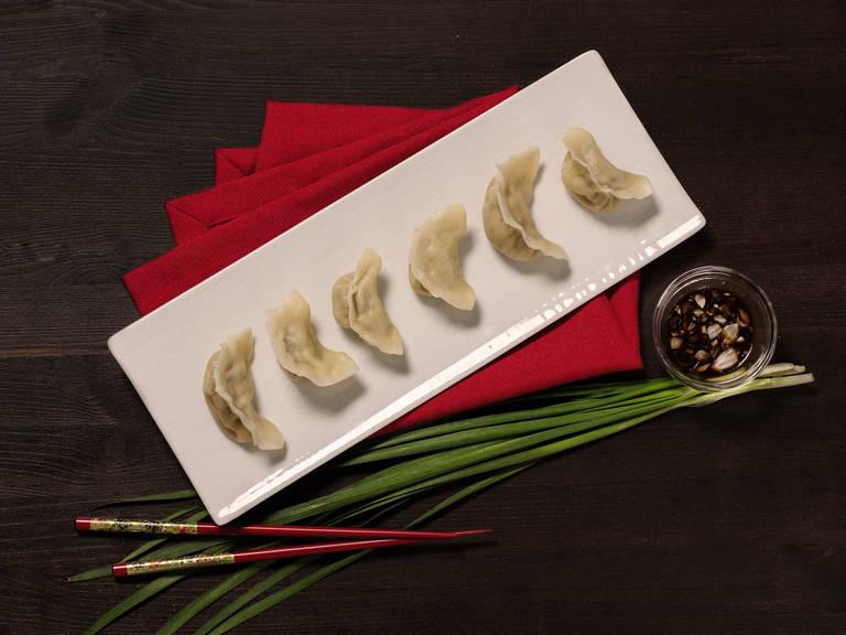 Dumplings mit dreierlei Füllung
