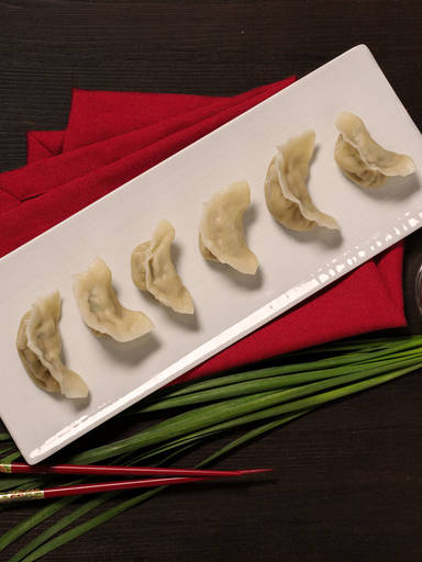 Savory dumplings with three fillings
