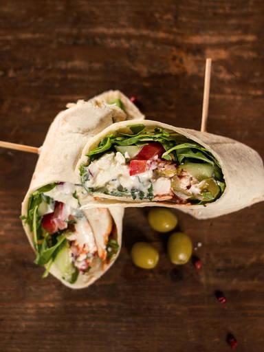 Wraps nach griechischer Art