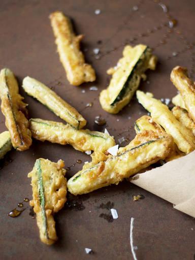 Tempura zucchini sticks