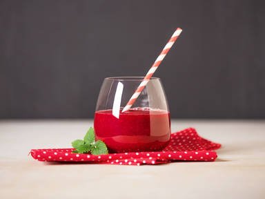 Glowing red smoothie