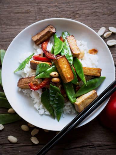 香煎豆腐配米饭