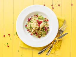 Quick cauliflower tabbouleh