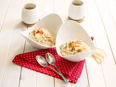 Quick almond porridge