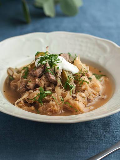 Sauerkraut-Pilzeintopf