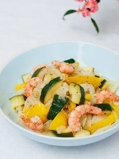 Marinated shrimp and vegetable salad