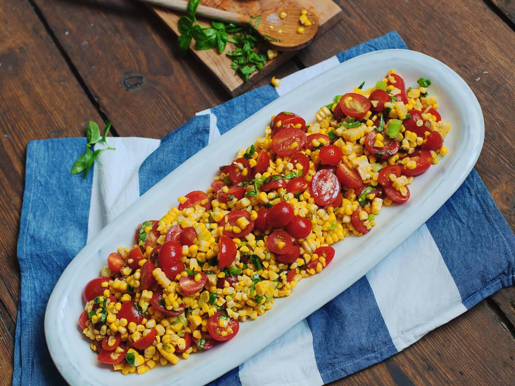 烤玉米番茄沙拉