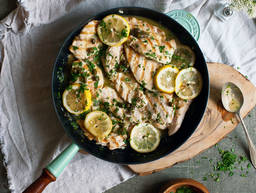 Grilled chicken piccata