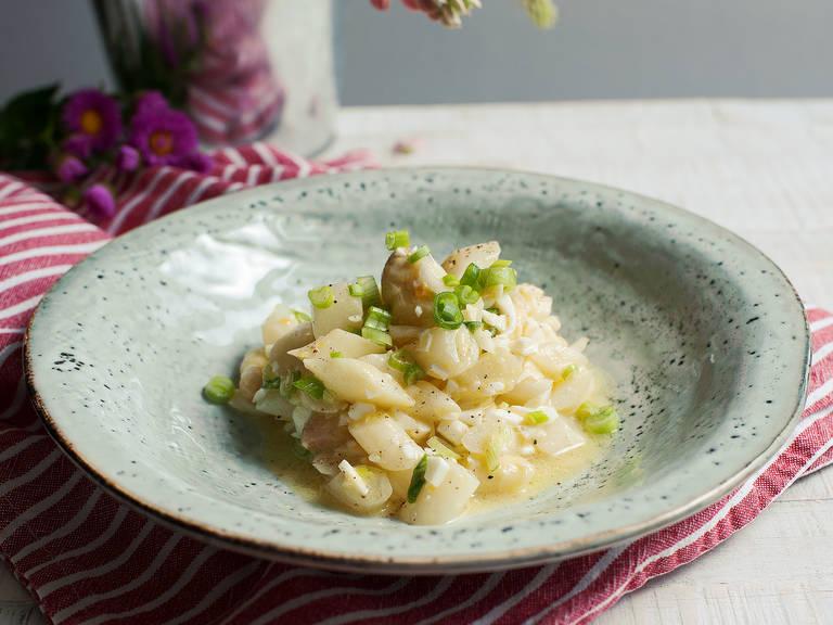 Asparagus salad with lemon mustard dressing