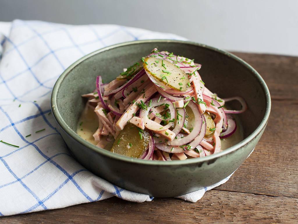 Bavarian sausage salad