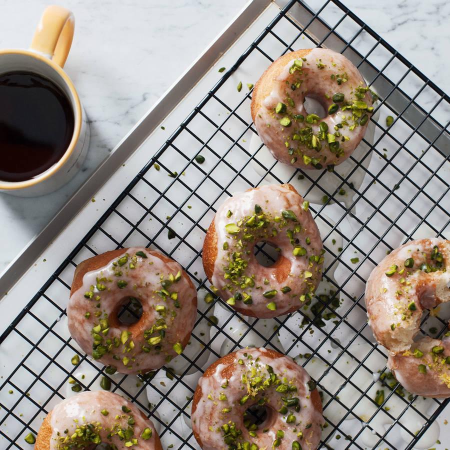 Pistachio Glazed Donuts