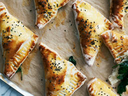 Cheese and spinach triangles