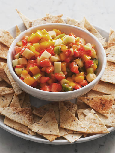 Fruit Salsa with Cinnamon Nachos