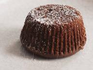 Nutella-Schokoküchlein mit flüssigem Karamellkern