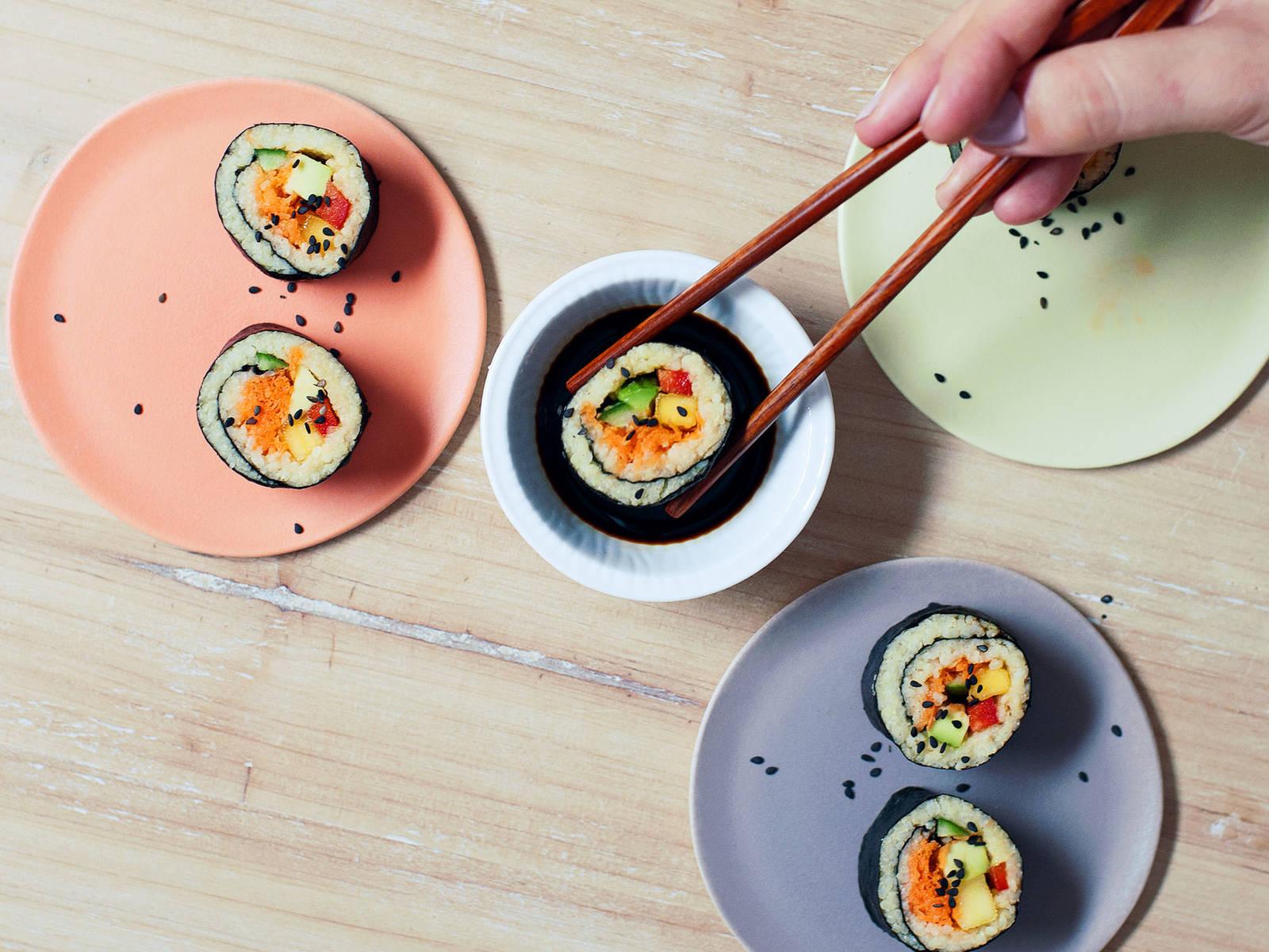紫菜小米寿司卷