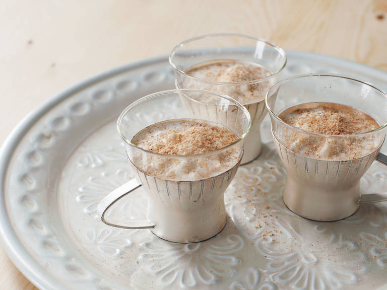 Holiday milk punch